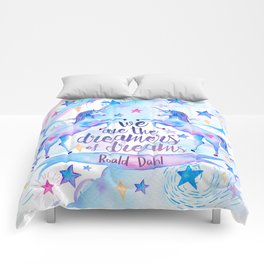 Unicorn Rainbow Quote Comforters