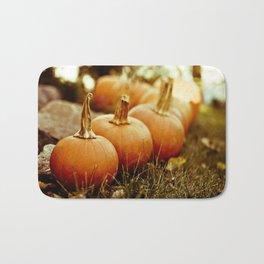 seven little pumpkins Bath Mat