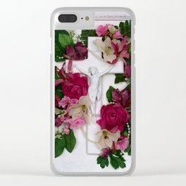 Crucifix by Kathy Morton Stanion Clear iPhone Case