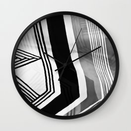Modern Zebra Abstract Wall Clock