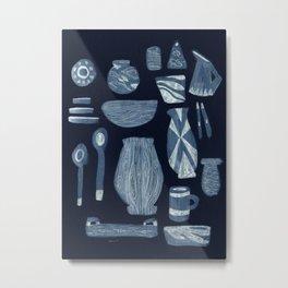 Dinnerware for Evening, 1958 Metal Print