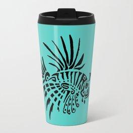Poisson lion - turquoise Travel Mug