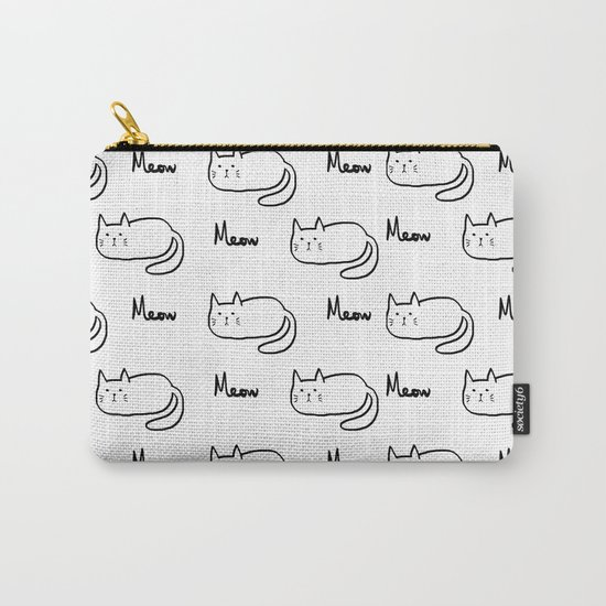 Cat lover meow meow Carry-All Pouch