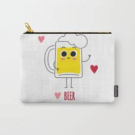 Beer is my valentine new 2018 love cute fun Carry-All Pouch