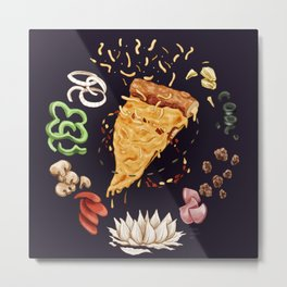 Pizza Mandala Metal Print