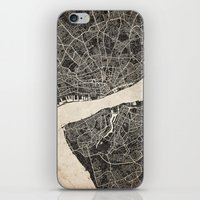 liverpool iPhone & iPod Skins featuring liverpool map ink lines by NJ-Illustrations