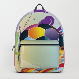 Brush strokes and soccer ball Backpack