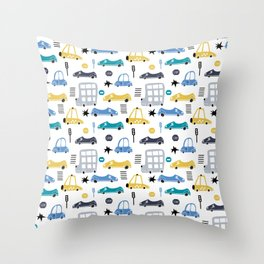 Cars Prints patterns Throw Pillow