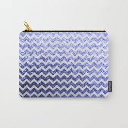Glitter Sparkly Bling Chevron Pattern (blue) Carry-All Pouch