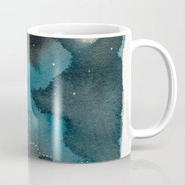 Moon Series #6 Watercolor + Ink Painting Coffee Mug