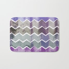 CHEVRON STRIPES - PURPLE Bath Mat