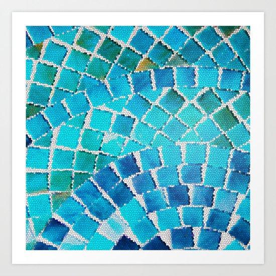 in love with aqua Art Print
