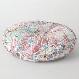Houston map flowers Floor Pillow