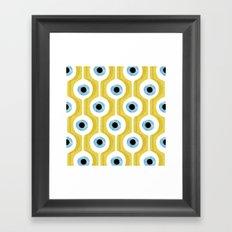 Eye Pod Yellow Framed Art Print