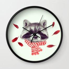 Indi raccoon Wall Clock
