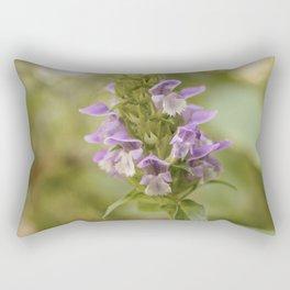 Purple Flowers in Sunrise (Vintage) Rectangular Pillow