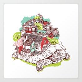 Tur-Town Art Print