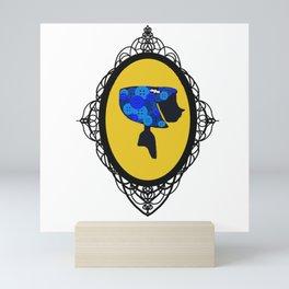 Cute As A Button Framed Mini Art Print