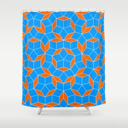 Penrose Tiling Pattern Shower Curtain