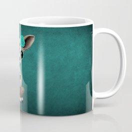 Blue Day of the Dead Sugar Skull Chihuahua Puppy Coffee Mug