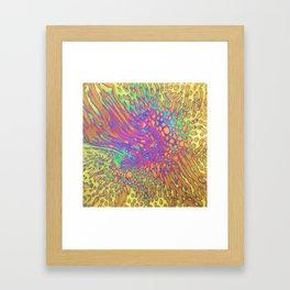 Bright Explosion Framed Art Print