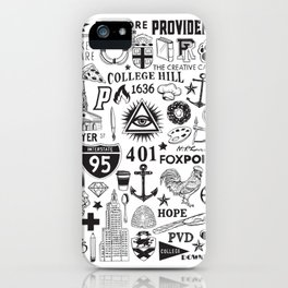 Providence Rhode Island Print iPhone Case
