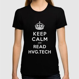 Keep calm and read HVG.tech T-shirt