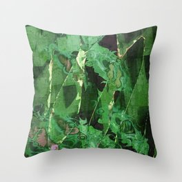 Abstract Magical Forest Throw Pillow