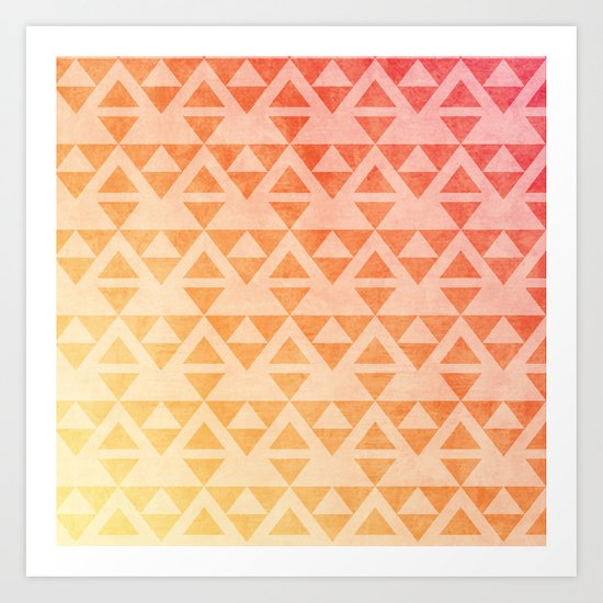 Aztec Pattern 11 Art Print