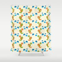 dino Shower Curtains featuring Dino by Elettra