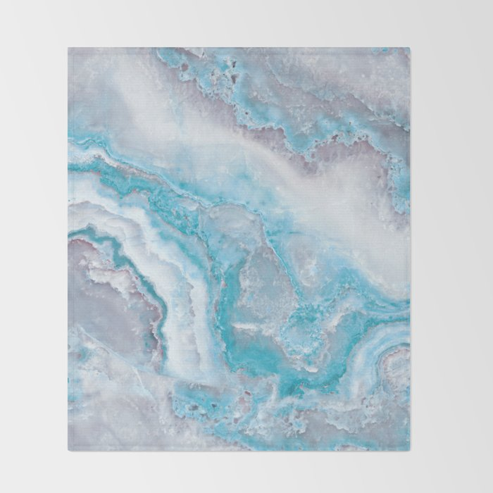 Ocean Foam Mermaid Marble Throw Blanket