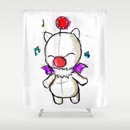 Watercolour Moogle  Shower Curtain