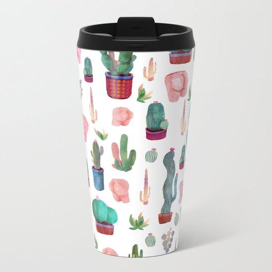 cactus and butts Metal Travel Mug