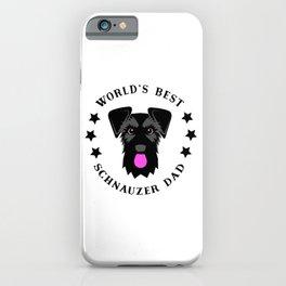 World's Best Schnauzer Dad Black Giant Schnauzer iPhone Case