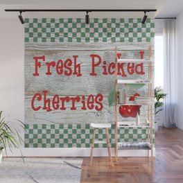 Fresh Picked Cherries Wall Mural