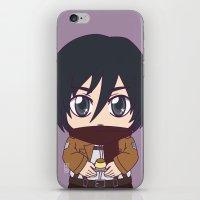 shingeki no kyojin iPhone & iPod Skins featuring Shingeki no Kyojin - Chibi Mikasa Flats by Tenki Incorporated