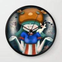 beastie boys Wall Clocks featuring Beastie  by Murka