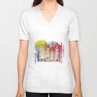 amsterdam V-neck T-shirts featuring Amsterdam by Svitlana M