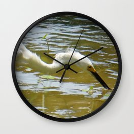 A Quick Bite From The Lake Wall Clock