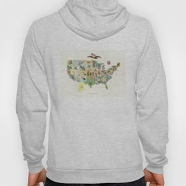 Vintage US State Flower Map (1911) Hoody
