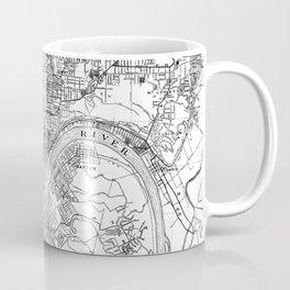 Vintage Map of Cincinnati Ohio (1915) BW Coffee Mug