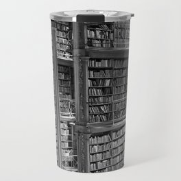 A book lovers dream - Cast-iron Book Alcoves Cincinnati Library black and white photography Travel Mug