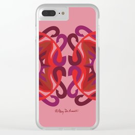 SAFE Mandala x2 - Salmon Red Clear iPhone Case