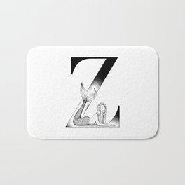 Mermaid Alphabet Series - Z Bath Mat