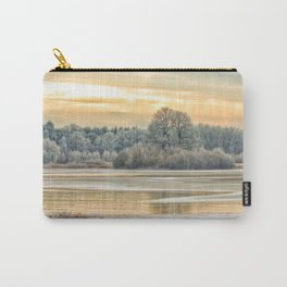 Walk on the winter lake Carry-All Pouch