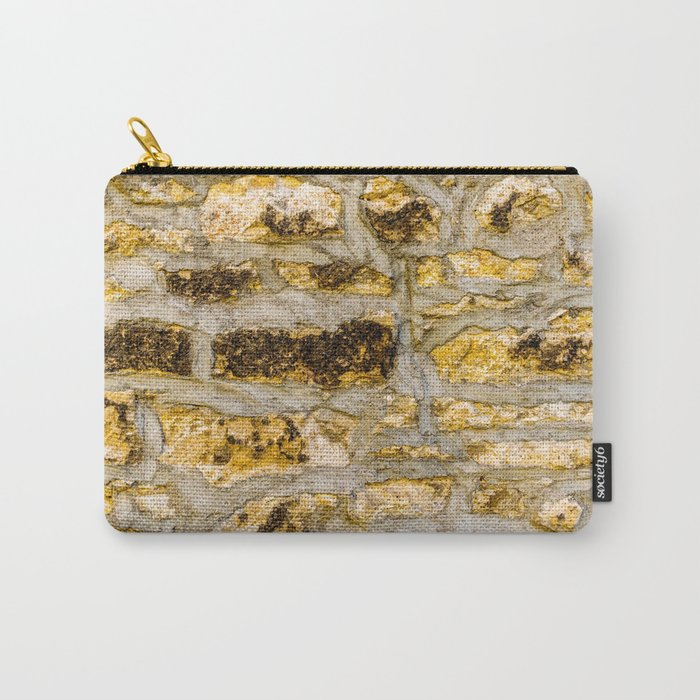 Stone Wall Structure (medium, yellow) Carry-All Pouch