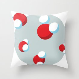 Water Molecules Throw Pillow
