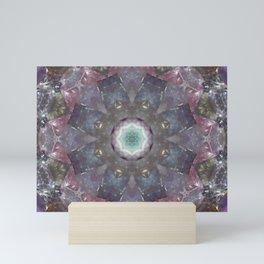 fluorite mandala Mini Art Print