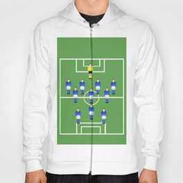Football Soccer sports team in blue Hoody