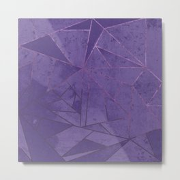 Amethyst Abstract Geometric Lines Metal Print
